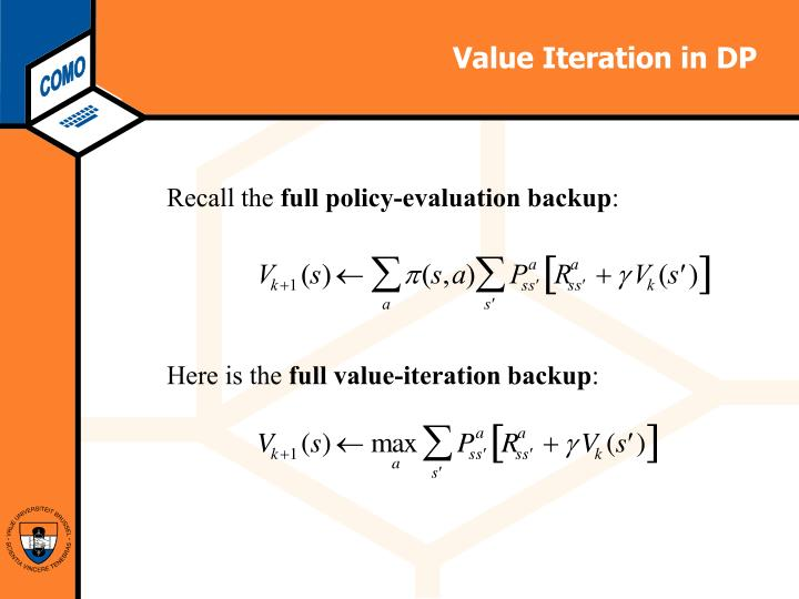 Value Iteration in DP