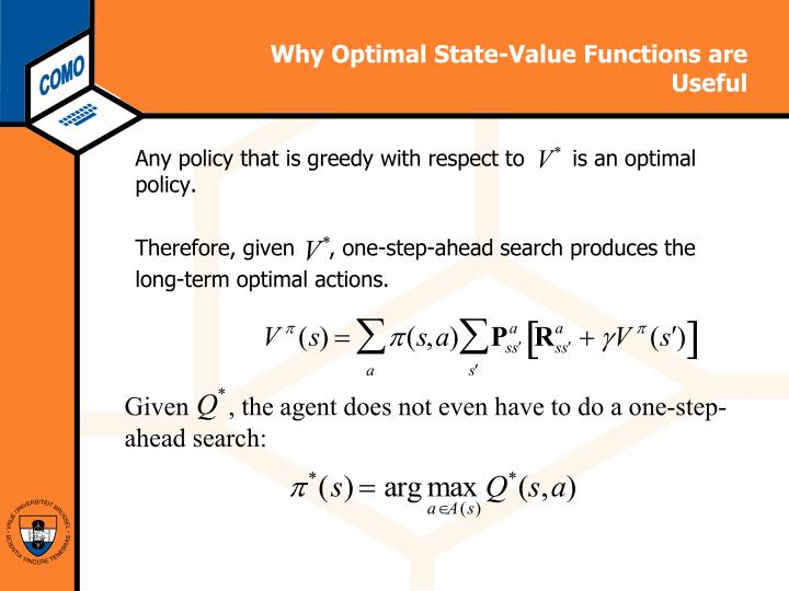 Why Optimal State-Value Functions are Useful