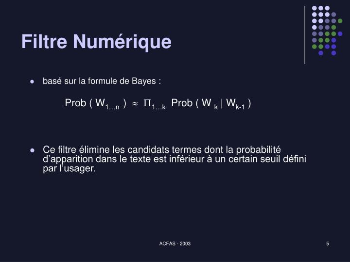 Filtre Numérique