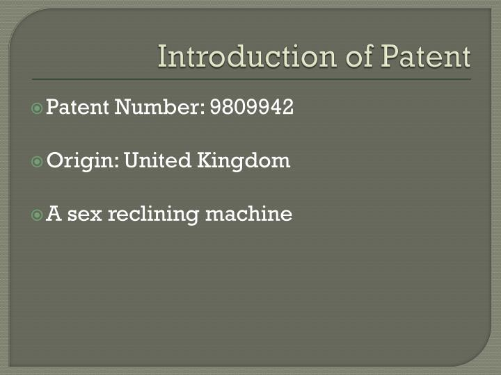Introduction of patent