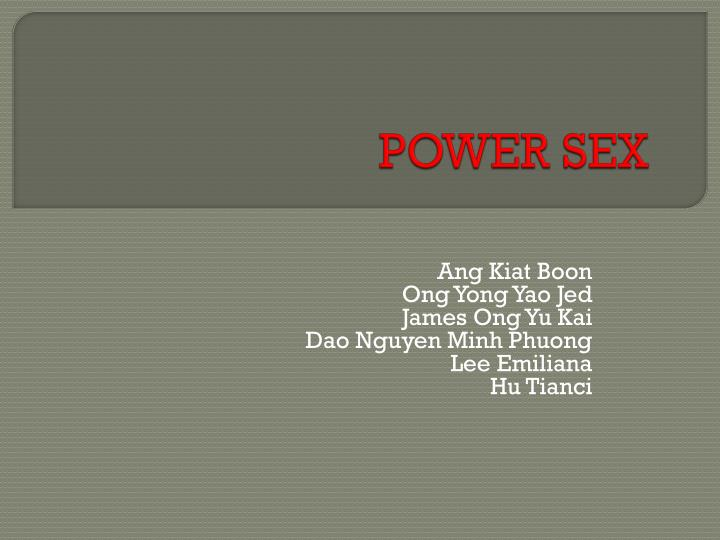 Power sex