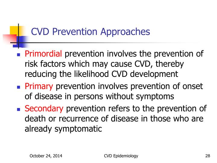 CVD Prevention Approaches