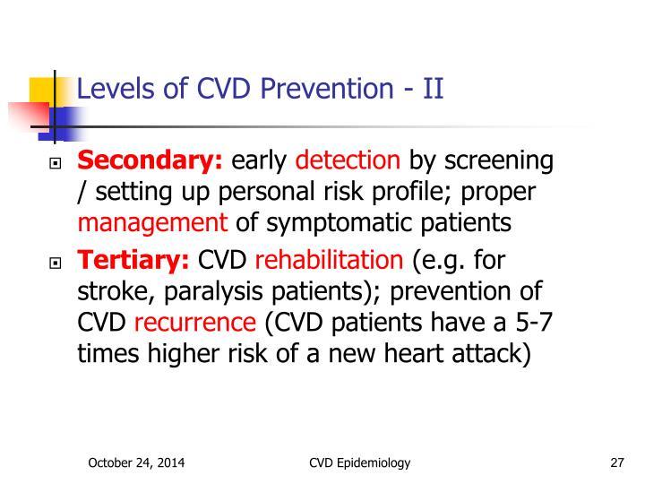 Levels of CVD