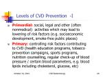 levels of cvd prevention i