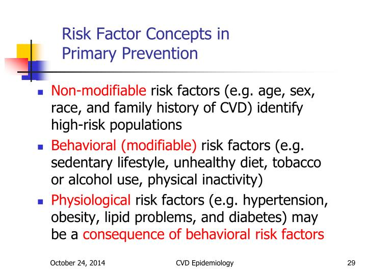 Risk Factor Concepts in