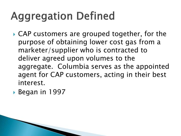 Aggregation Defined