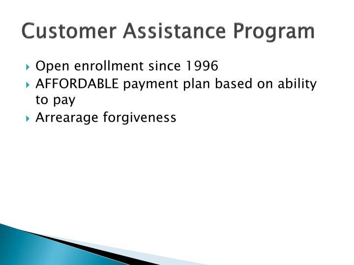 Customer Assistance Program