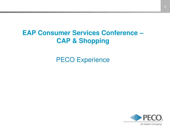 EAP Consumer Services Conference –