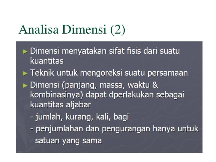 Analisa Dimensi (2)