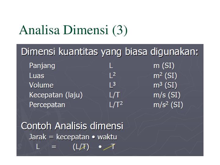 Analisa Dimensi (3)