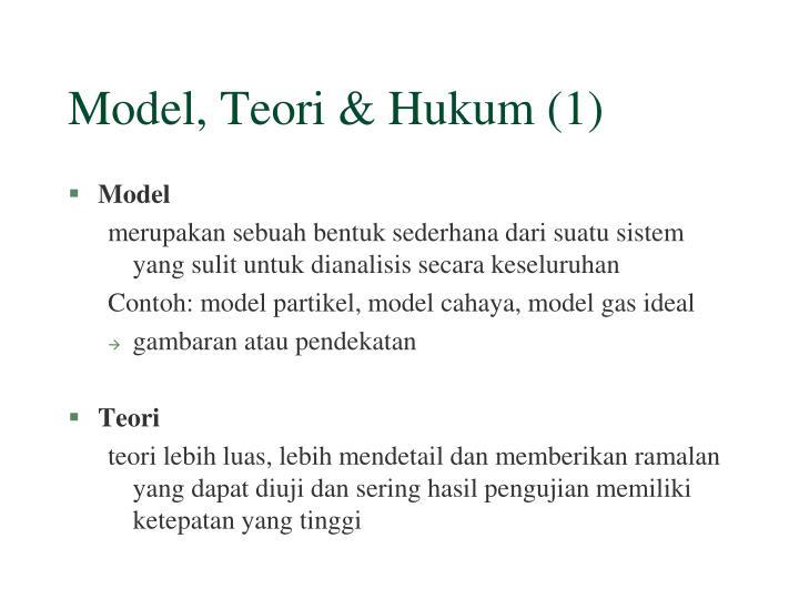 Model, Teori & Hukum (1)