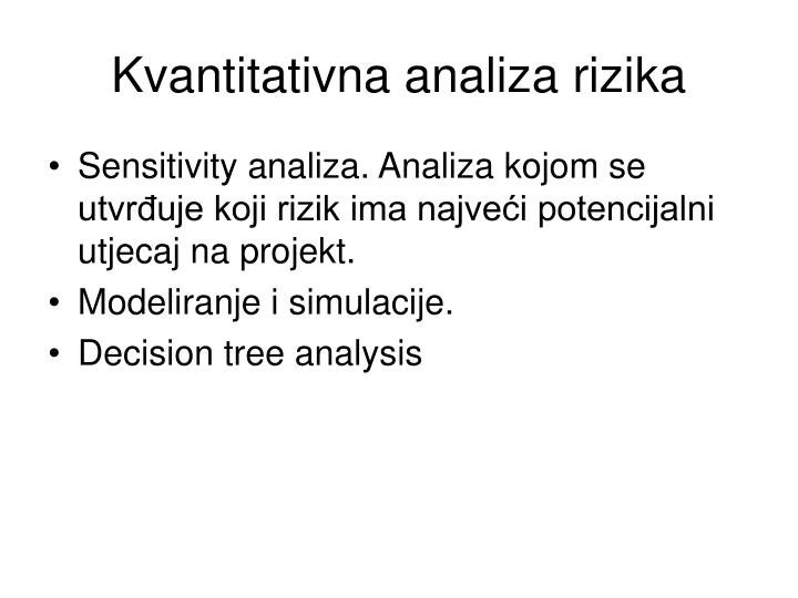 Kvantitativna analiza rizika