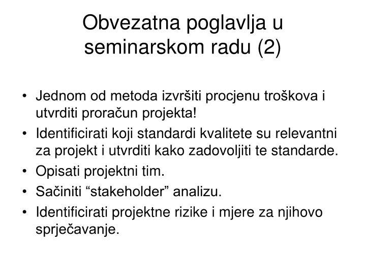 Obvezatna poglavlja u seminarskom radu (2)