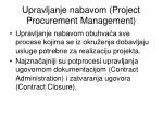 upravljanje nabavom project procurement management
