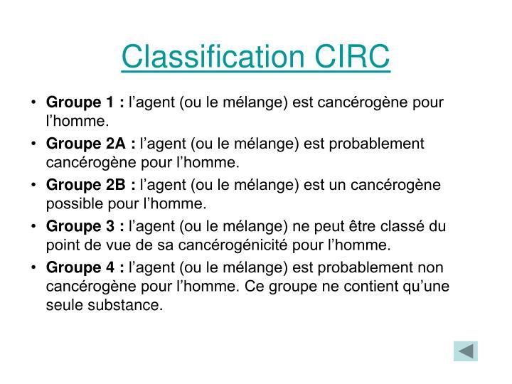 Classification CIRC
