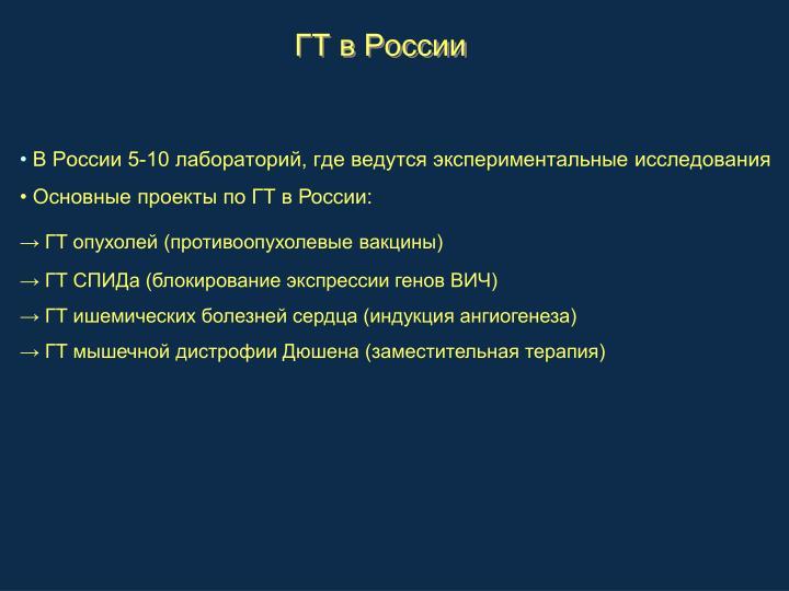 ГТ в России