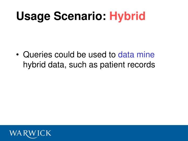 Usage Scenario: