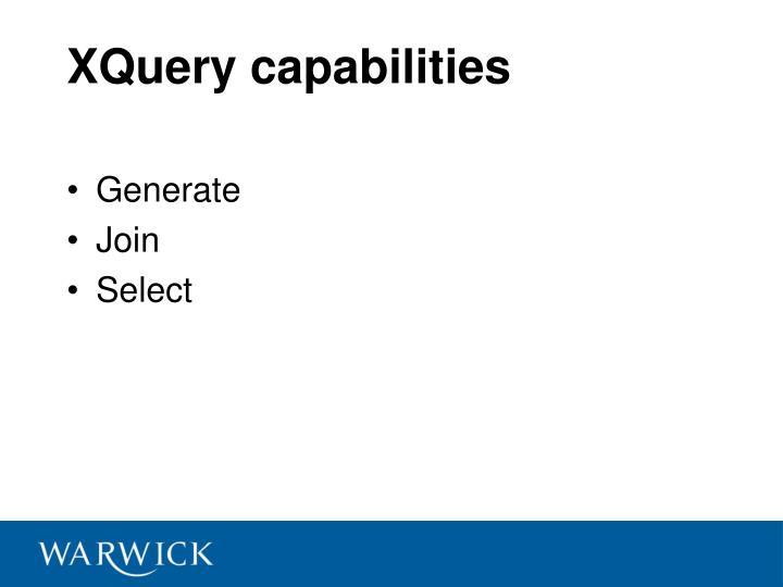 XQuery capabilities