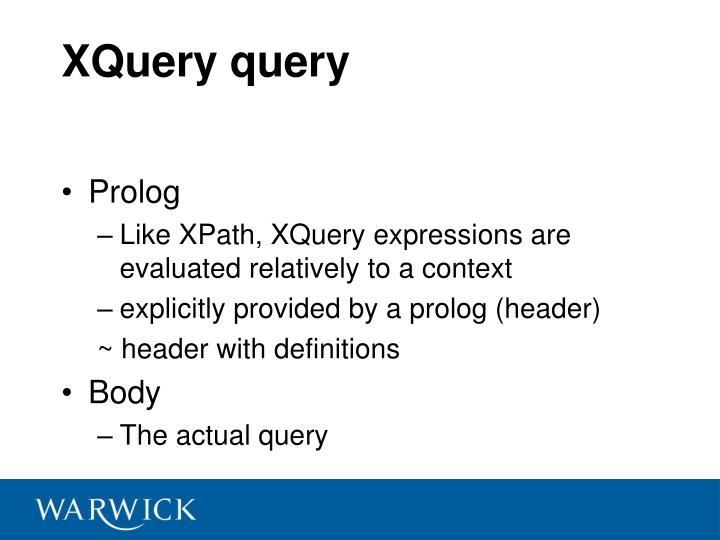 XQuery query