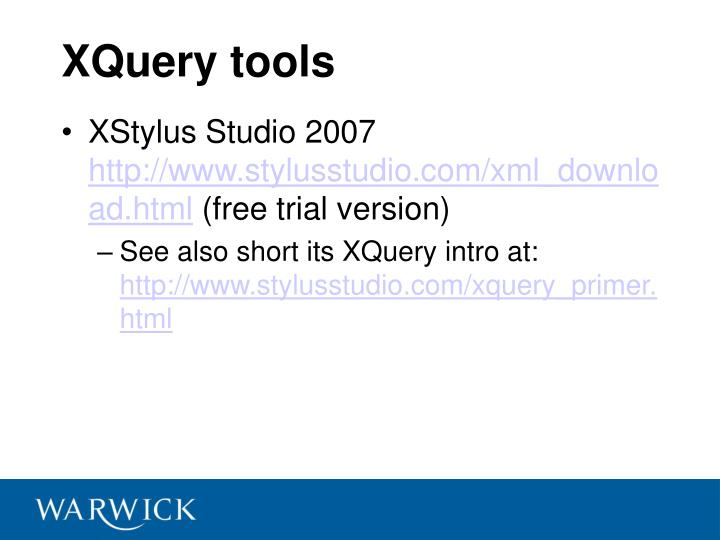 XQuery tools