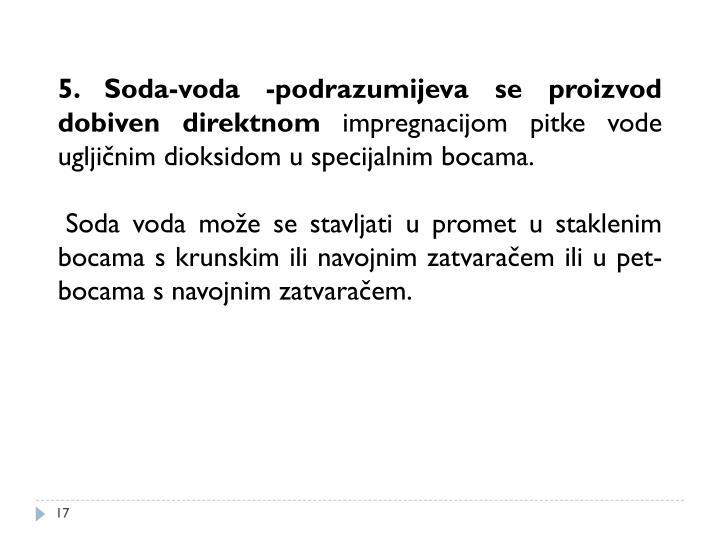 5. Soda-voda -podrazumijeva