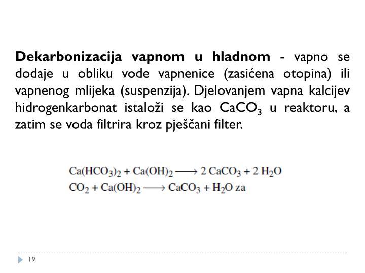 Dekarbonizacija vapnom u hladnom
