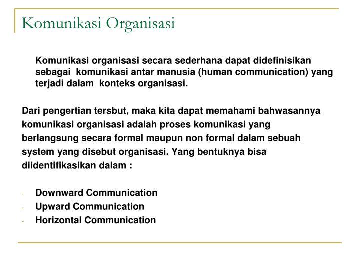 Komunikasi Organisasi