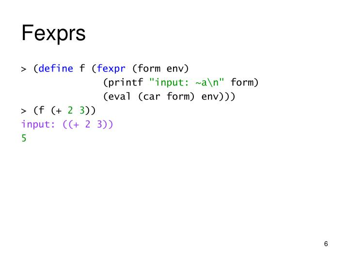 Fexprs