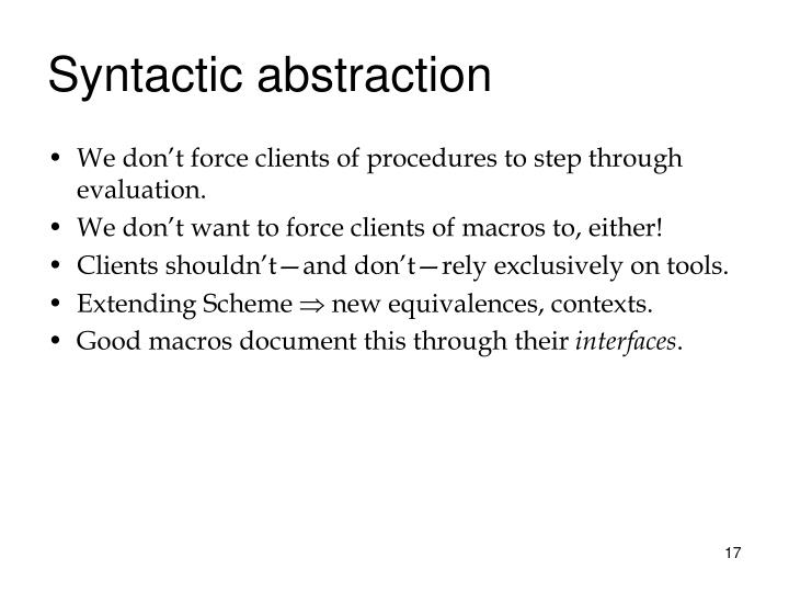 Syntactic abstraction