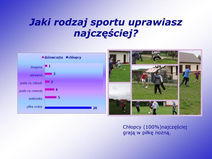 Jaki rodzaj sportu uprawiasz najczęściej?