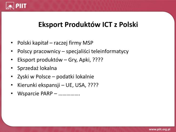 Eksport Produktów ICT z Polski