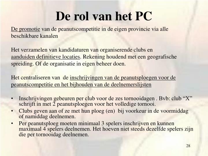 De rol van het PC