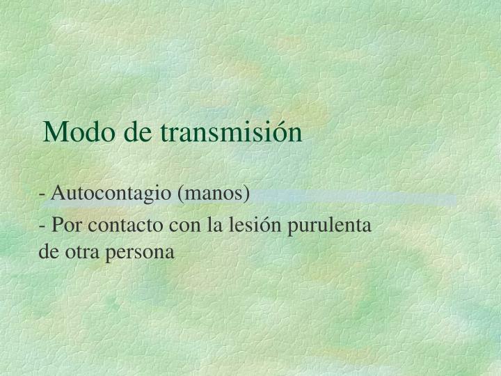 Modo de transmisión
