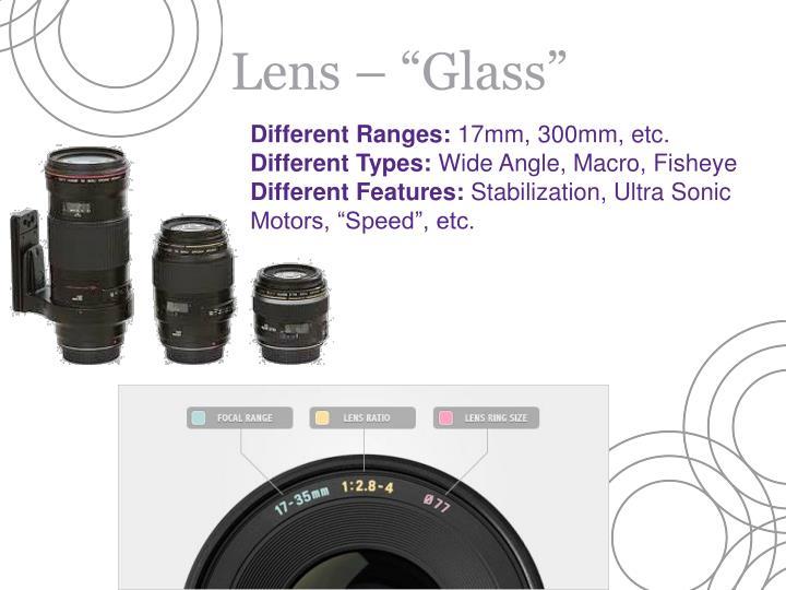 """Lens – """"Glass"""""""