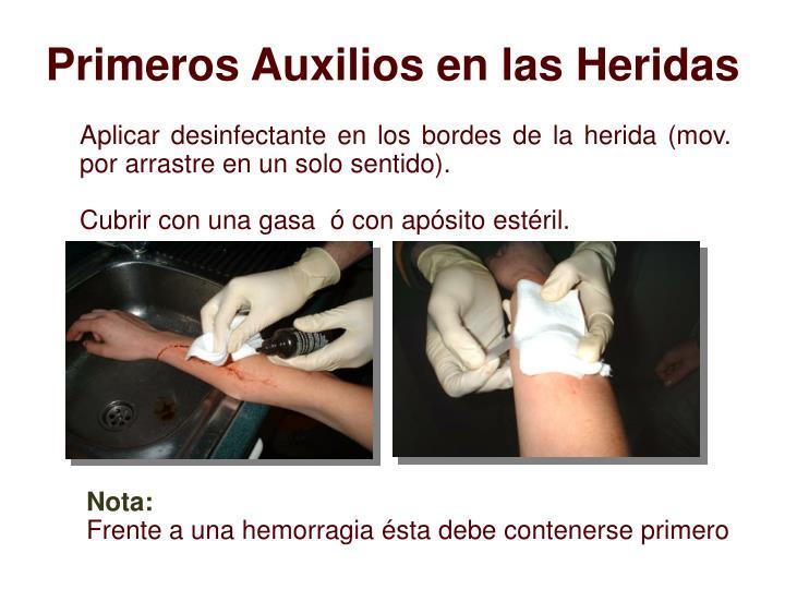 Primeros Auxilios en las Heridas