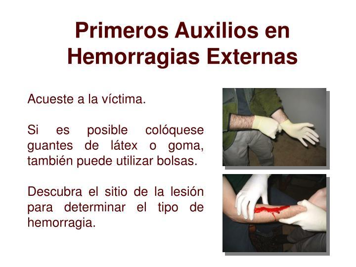 Primeros Auxilios en Hemorragias Externas