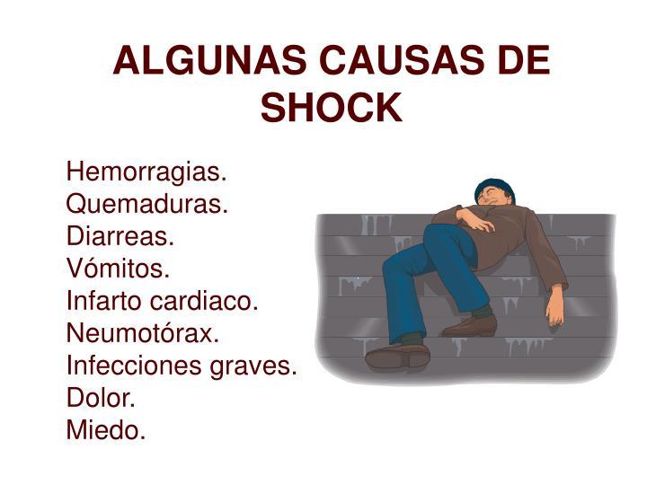 ALGUNAS CAUSAS DE SHOCK