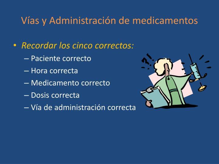 Vías y Administración