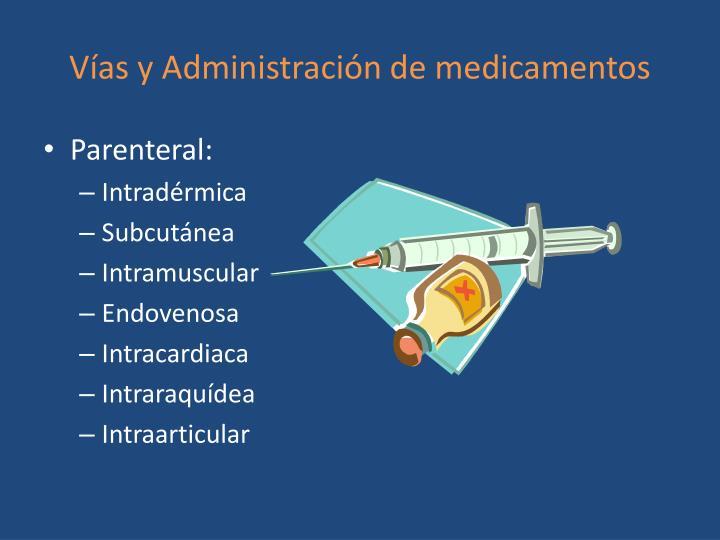 Vías y Administración de medicamentos