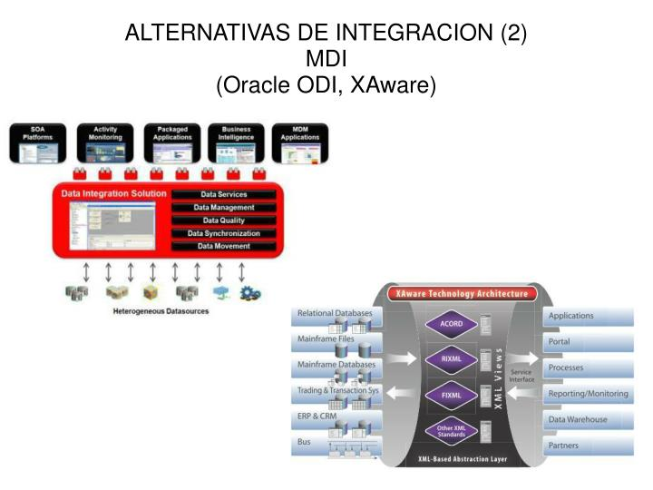 ALTERNATIVAS DE INTEGRACION (2)