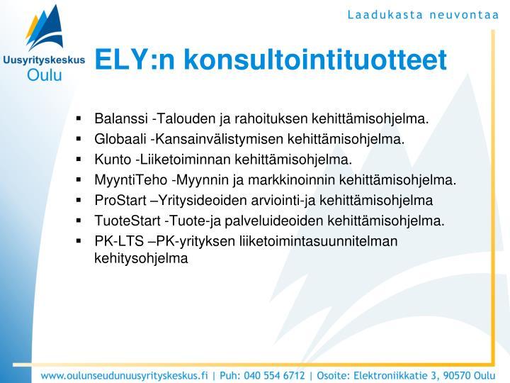 ELY:n konsultointituotteet