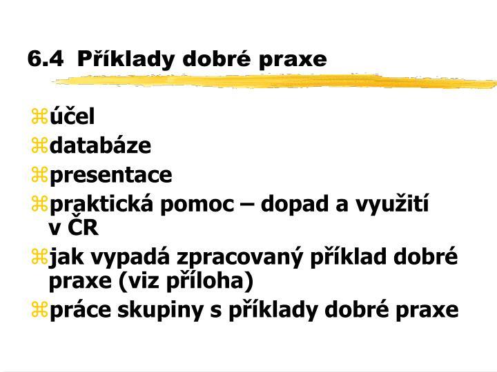 6.4Příklady dobré praxe