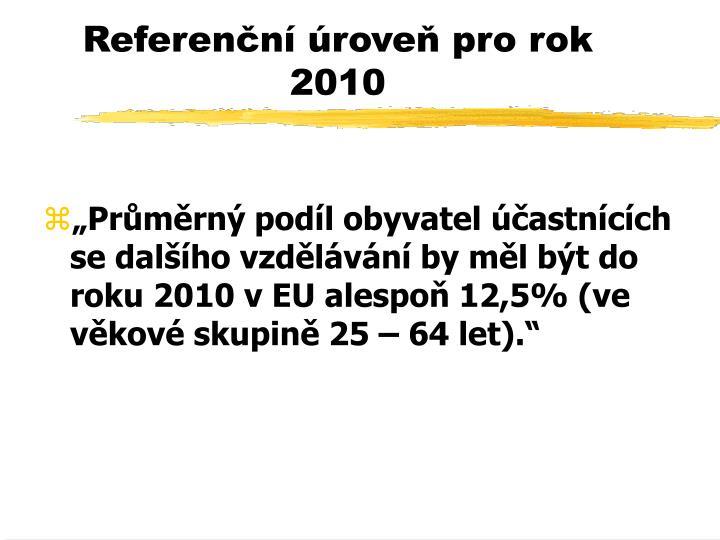 Referenční úroveň pro rok 2010