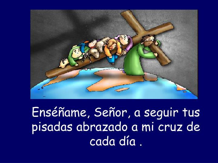 Enséñame, Señor, a seguir tus pisadas abrazado a mi cruz de cada día .