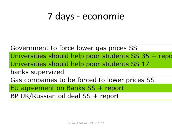 7 days - economie