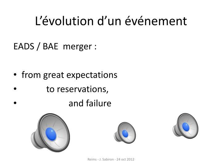 L'évolution d'un événement
