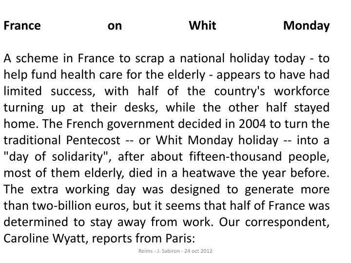 France on Whit Monday