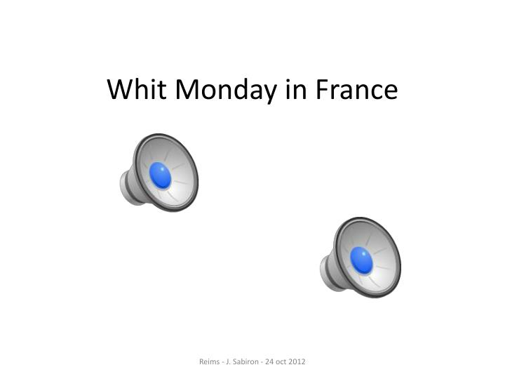Whit Monday in France