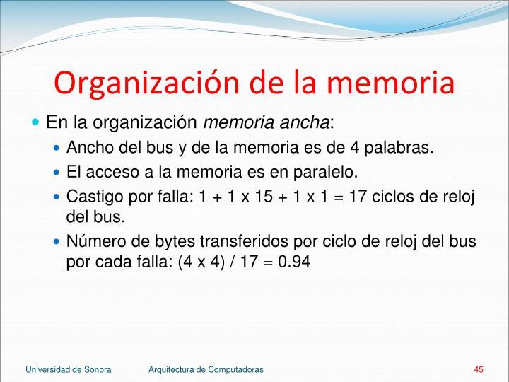 Organización de la memoria
