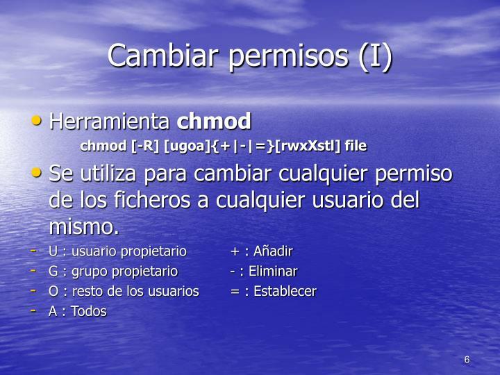 Cambiar permisos (I)